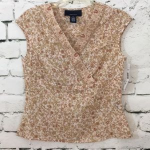 NWT Jones Wear high waist top with crossed front!